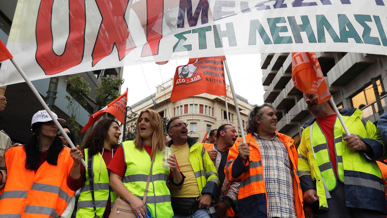 Protest gegen das neunte Sparpaket in Athen, Griechenland