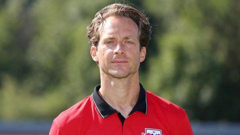 Tim Lobinger, zur Zeit dieser Aufnahme aus dem Juli 2014 Athletiktrainer bei den Fußballern von RB Leipzig, hat Leukämie