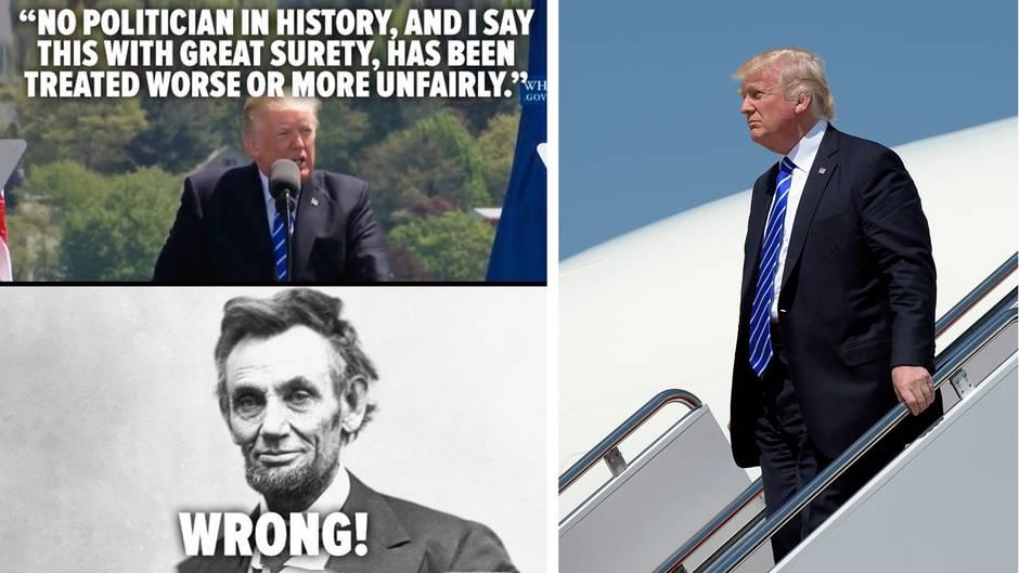 Lustige Tweets: Donald Trump: Kein Politiker wurde bisher schlechter behandelt als ich - wirklich?!