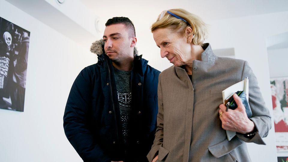 "Ahmad C. mit ""Ipso""-Gründerin Inge Missmahl"
