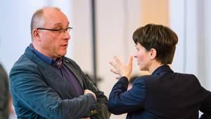 Richter Jens Maier und Frauke Petry von der AfD