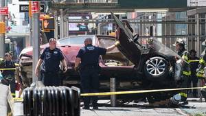 Unfall am Times Square New York