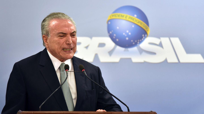 Brasiliens Präsident Michel Temer gibt eine Pressekonferenz