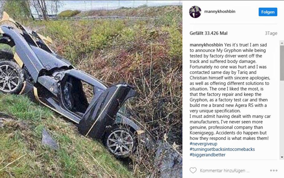 Größter Pechvogel: Werksfahrer crasht Zwei-Millionen-Supercar
