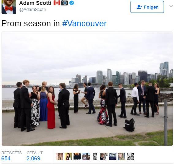 Ungeplantes Treffen: Justin Trudeau und Studenten auf der Stanley Park Seawall in Vancouver