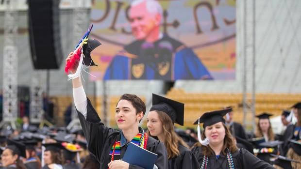 Rede Mike Pence Studentenprotest
