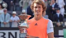 Der deutsche Tennisspieler Alexander Zverev bei seinem Triumph in Rom