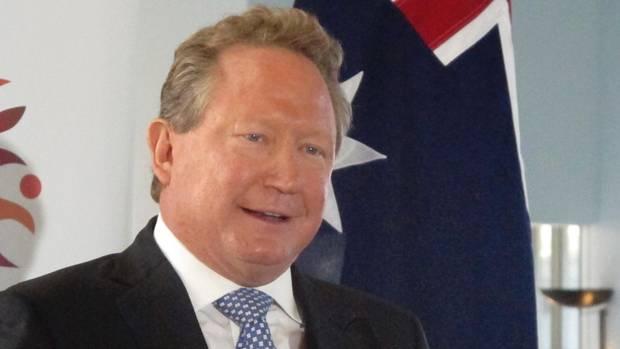 Der australische Bergbau-Magnat Andrew Forrest bei seiner Rede am Montag im Parlament in Canberra