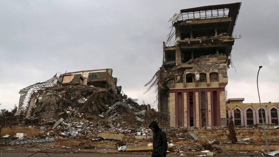 Die Universität in Mossul: Die Terrormiliz IS testete und entwickelte hier offenbar chemische Kampfstoffe