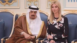 Ivanka Trump am königlichen Hof von Saudi-Arabien