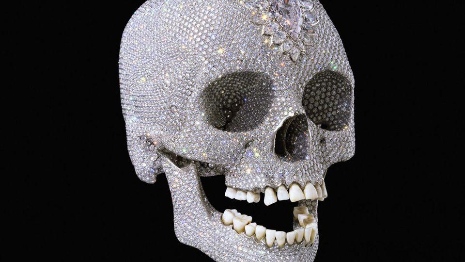 """Hirsts Totenkopf """"For the Love of God"""" von 2007 hatte einen Verkaufspreis von 50 Millionen Pfund."""