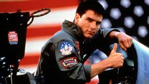 Tom Cruise in seiner Rolle als Kampfpilot Maverick in Top Gun