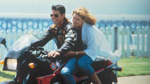 Tom Cruise mit seiner Schauspielkollegin Kelly McGillis