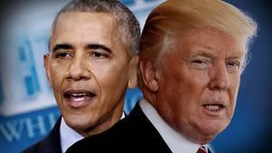 Barack Obama und Donald Trump besuchen Europa