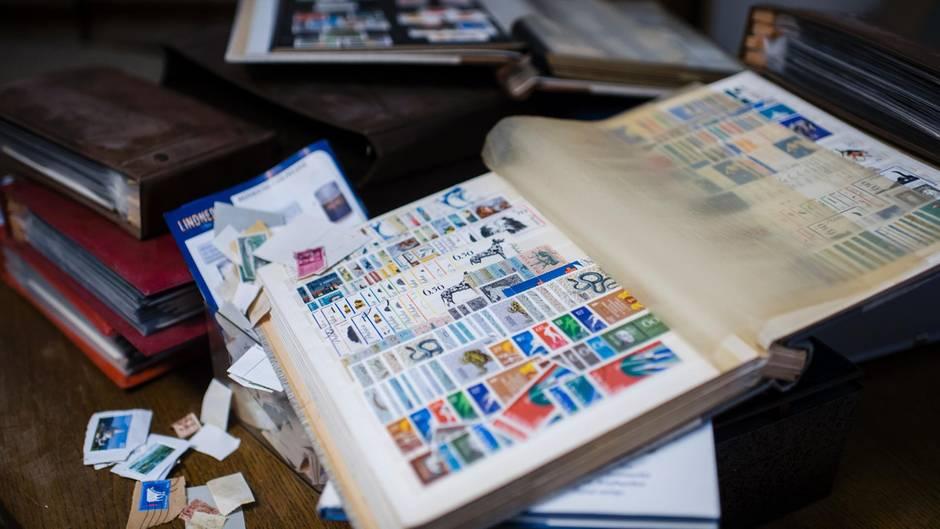 Briefmarkenalben von Bruno