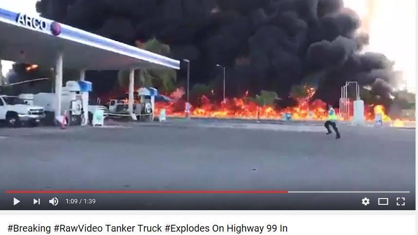 Der Unfall ereignete sich in der Nähe einer Tankstelle