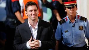 Der Fußball-Star Lionel Messi bei der Verhandlung 2013
