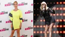 Zwei Bilder von den Sängerinnen Katy Perry und Taylor Swift