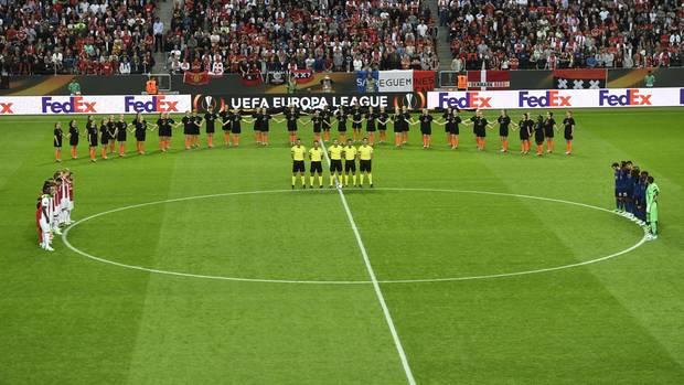 Im Gedenken an die Opfer des Anschlags von Manchester gab es vor dem Finale eine Schweigeminute
