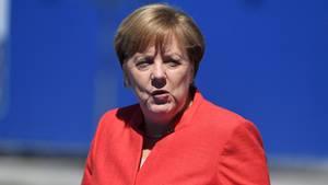 Bundeskanzlerin Angela Merkel bei ihrer Ankunft in Brüssel