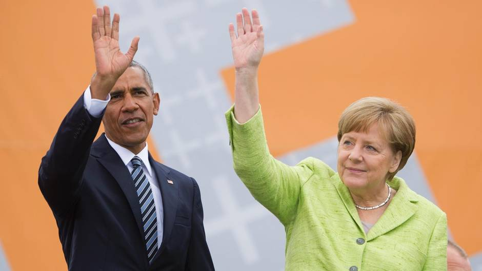 Obama und Merkel in Berlin