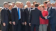 Emmanuel Macron trifft auf Donald Trump - mag aber Angela Merkel lieber.