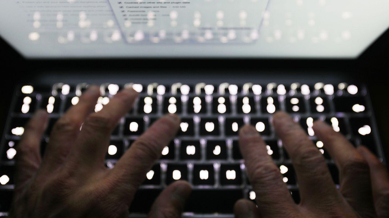 Hände tippen auf einer Laptop-Tastatur (Symbolfoto)