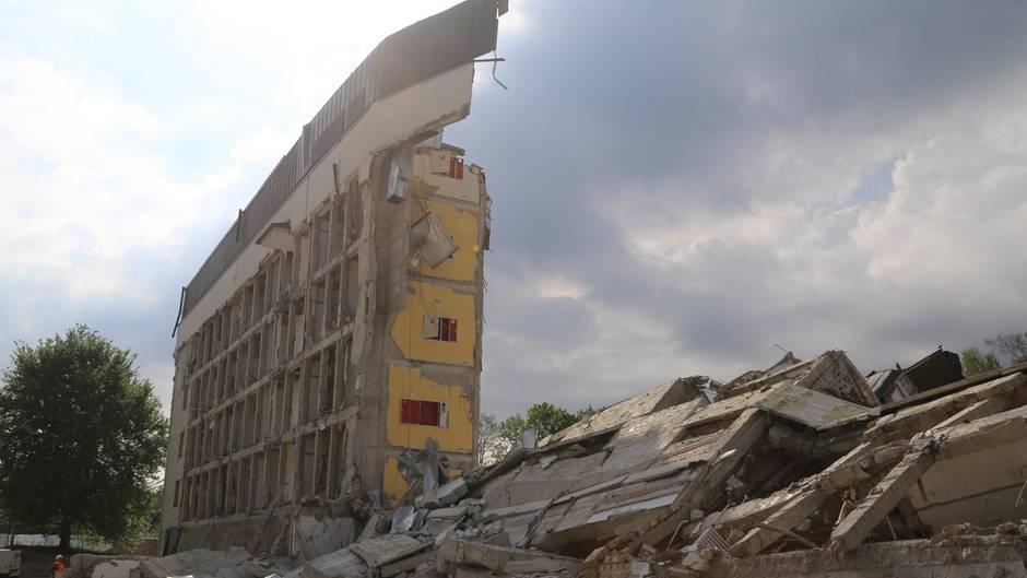 Die Reste des Krankenhauses in Marktoberdorf