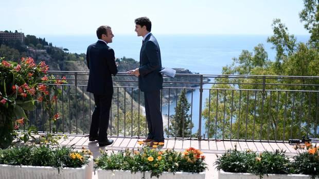 Emmanuel Macron und Justin Trudeau