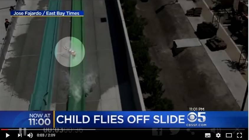 """Ein Screenshot zeigt den Unfall im Wasserpark """"The Wave""""."""