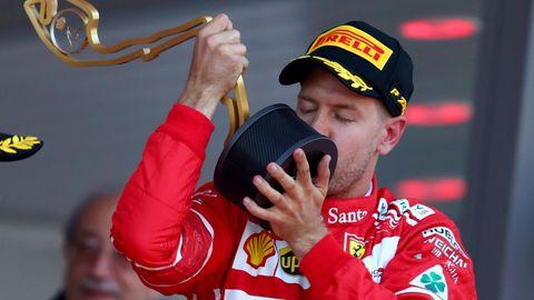 """Sebastian Vettel im Rausch der Gefühle. Nach seinem Monte-Carlo-Triumph meinte er: """"""""Es war unmöglich, nicht Gänsehaut zu bekommen."""""""