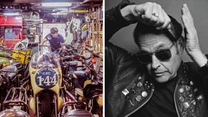 Collage: Motorradwerkstatt; Nigel Stark