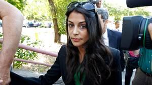 Die Schauspielerin Sara Casasnovas bei der Gerichtsverhandlung um ihren Stalker 2010 in Spanien