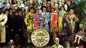 "Das Cover des Beatles-Albums ""Sgt. Pepper's Lonely Hearts Club Band"""