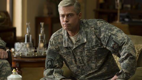 """Brad Pitt in """"War Machine"""""""