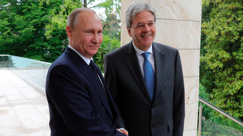 Bitte recht freundlich: Russlands Präsident Wladimir Putin und Italiens Premier Paolo Gentiloni Mitte Mai in Sotschi.