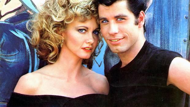 "Olivia Newton-John und John Travolta 1978 im Film ""Grease"""