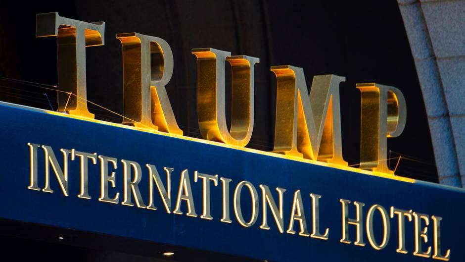 Das Trump-Hotel in Washington. Der US-Präsident hält sich hier öfters auf.