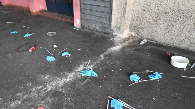 Der Tatort vor einem Teesalon. Hier wurde Fahad Echata erschossen.