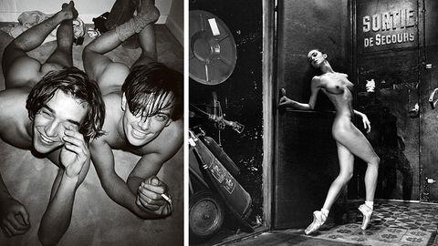 Arbeiten von Mario Testino und Helmut Newton