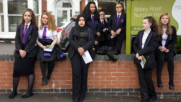 Studenten in Erdington