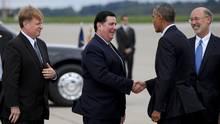 Zwischen Bill Peduto und Barack Obama stimmte das Klima offenbar besser als zwischen Peduto und Donald Trump.