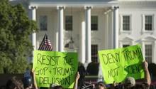 Protestaktion für den Klimaschutz vor dem Weißen Haus in Washington