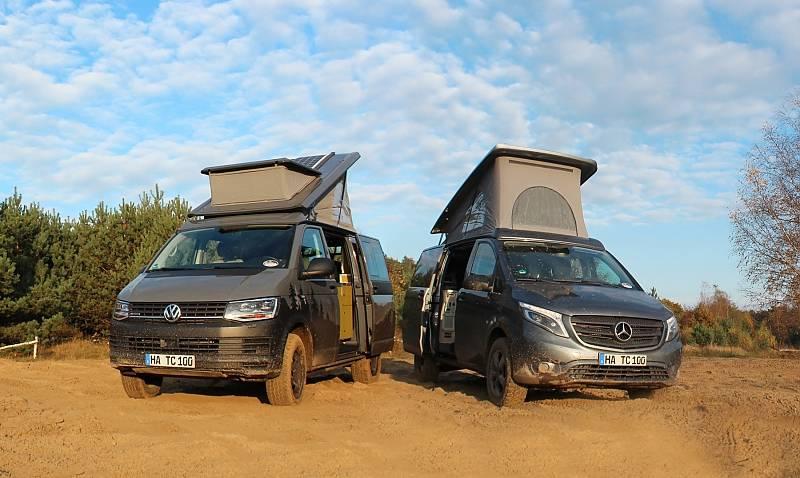 VW T6 Terracamper - wahlweise gibt es auch einen Mercedes Viano