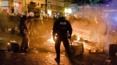 g20 gipfel hamburg - erwartete gewaltbereite
