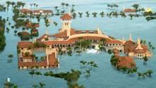 Mar-a-Lago: Wie Trumps Luxusanwesen nach dem Klima-Gau aussähe