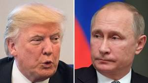 Donald Trump (l.) und Wladimir Putin