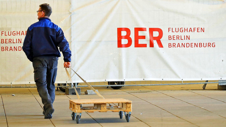 Geht es am Flughafen BER voran? Eine Aufnahme von der Baustelle im April 2017.