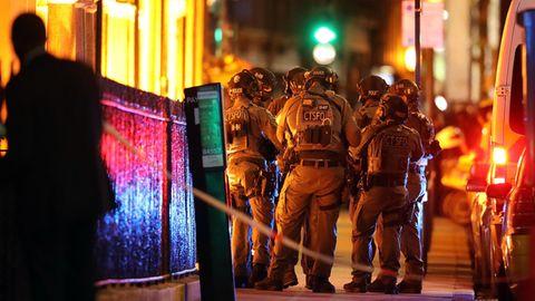 Wenige Minuten nach dem Notruf waren Anti-Terrorkräfte vor Ort