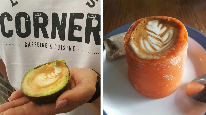 Kaffee-Trend mit Karotten